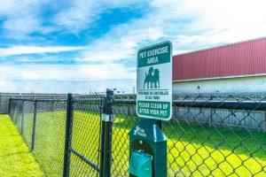 Plantation Oaks RV Park pet exercise area