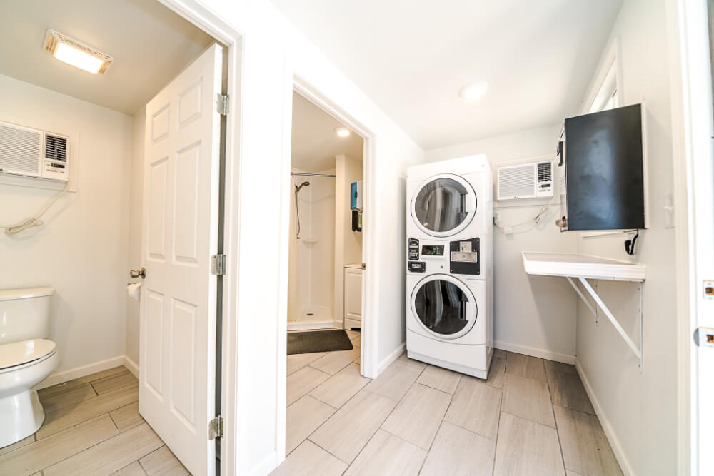 Laundry Room and Restrooms